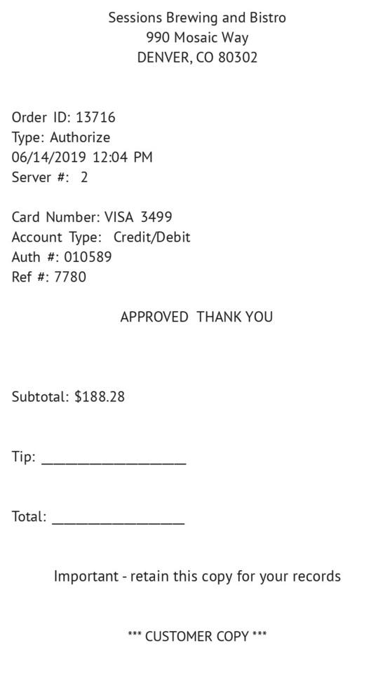 Food Dining  Receipt receipt